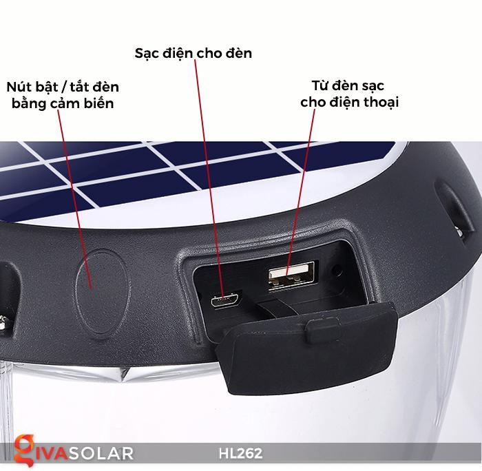 Đèn sạc năng lượng mặt trời xách tay HL262 13