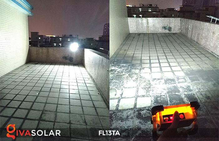Đèn pha sạc năng lượng mặt trời mini FL13TA 10