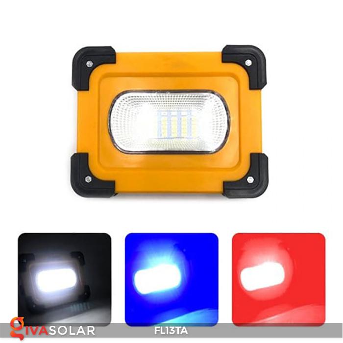 Đèn pha sạc năng lượng mặt trời mini FL13TA 13