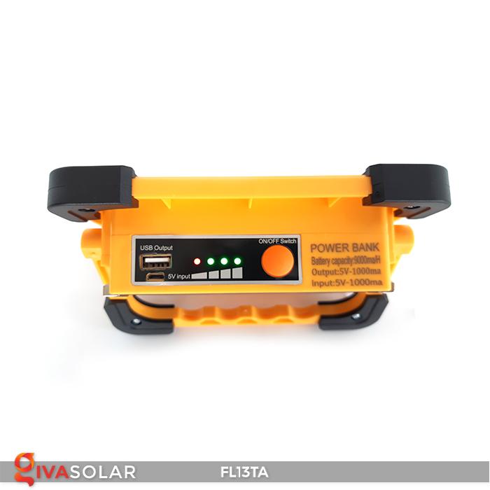 Đèn pha sạc năng lượng mặt trời mini FL13TA 6