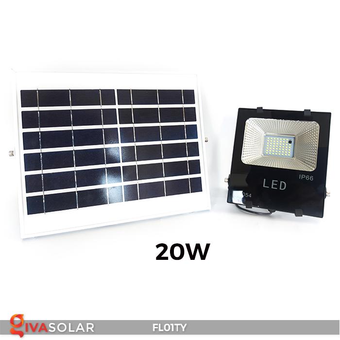 Đèn pha thông minh năng lượng mặt trời FL01TY 20