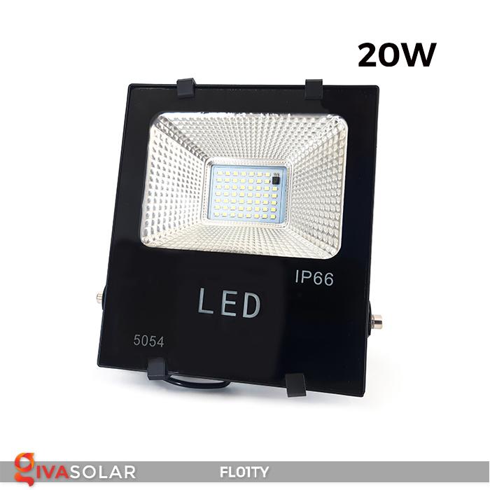 Đèn pha thông minh năng lượng mặt trời FL01TY 21