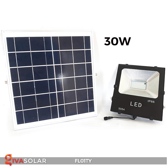 Đèn pha thông minh năng lượng mặt trời FL01TY 25