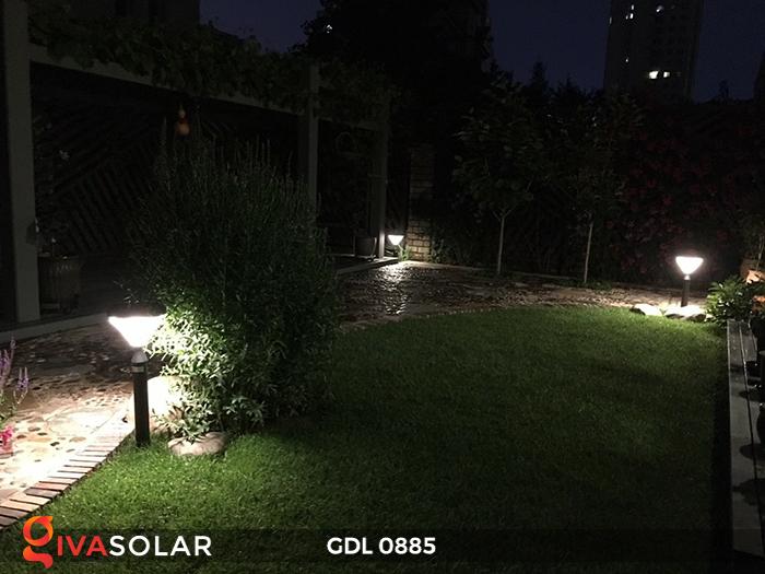 Đèn chiếu sáng sân vườn năng lượng mặt trời GDL0885 1