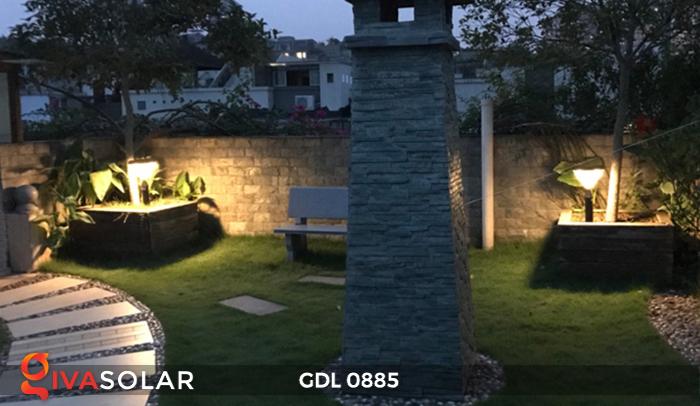 Đèn chiếu sáng sân vườn năng lượng mặt trời GDL0885 12