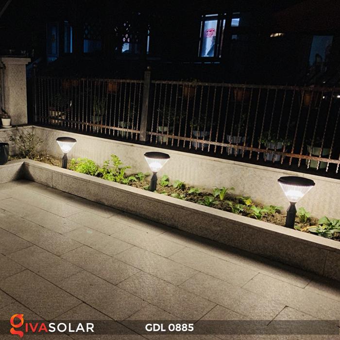 Đèn chiếu sáng sân vườn năng lượng mặt trời GDL0885 18