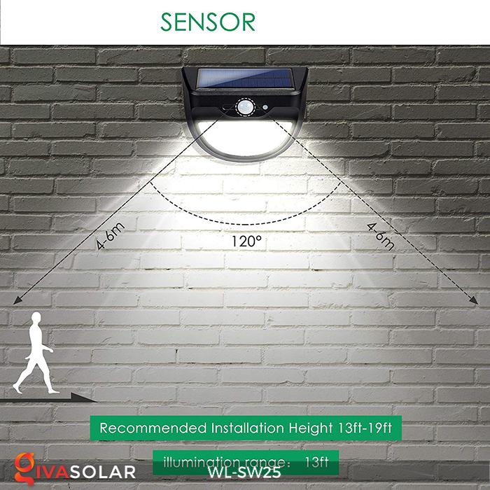 Đèn treo tường năng lượng mặt trời WL-SW25 10