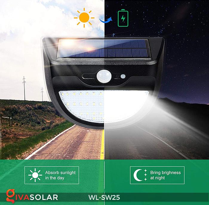 Đèn treo tường năng lượng mặt trời WL-SW25 13