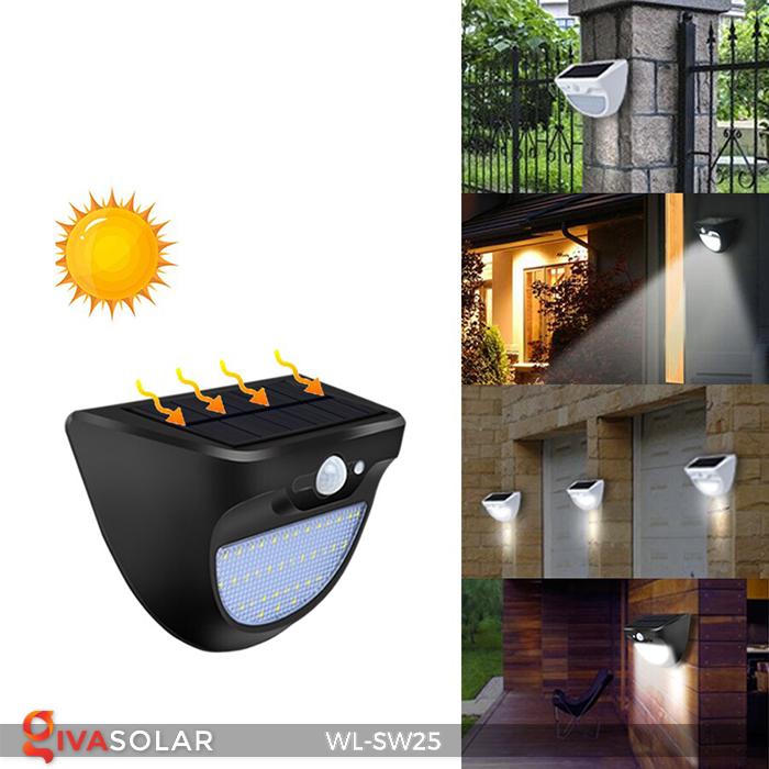 Đèn treo tường năng lượng mặt trời WL-SW25 15