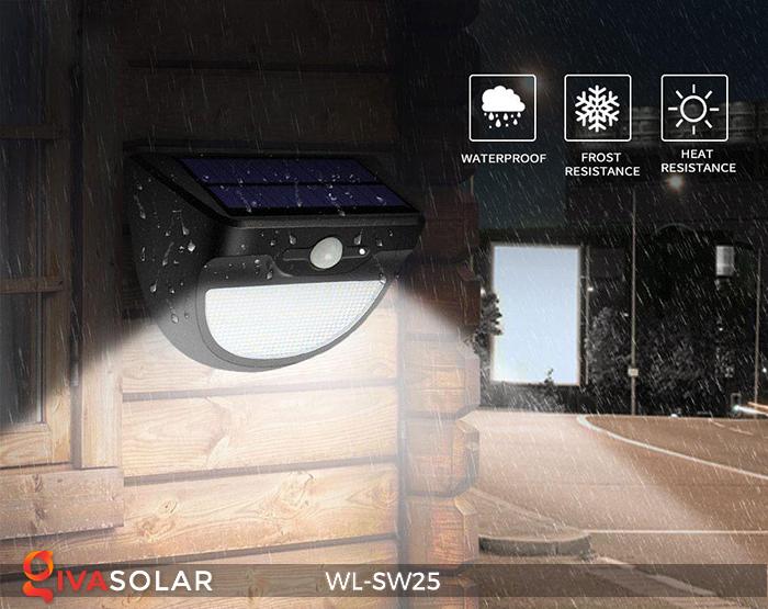 Đèn treo tường năng lượng mặt trời WL-SW25 8