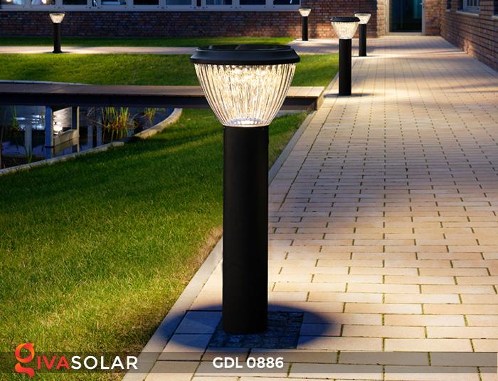 Đèn trụ lối đi năng lượng mặt trời GDL0886 7