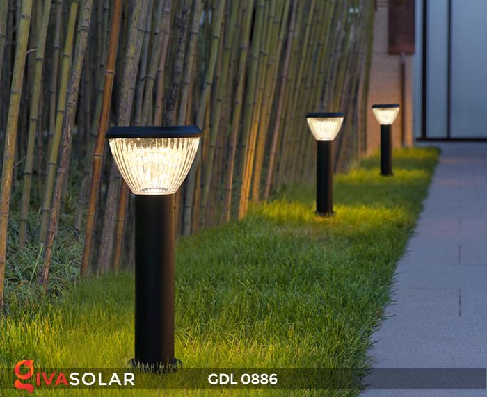 Đèn trụ lối đi năng lượng mặt trời GDL0886 8