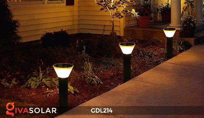 Đèn trụ sân vườn năng lượng mặt trời GDL214 2