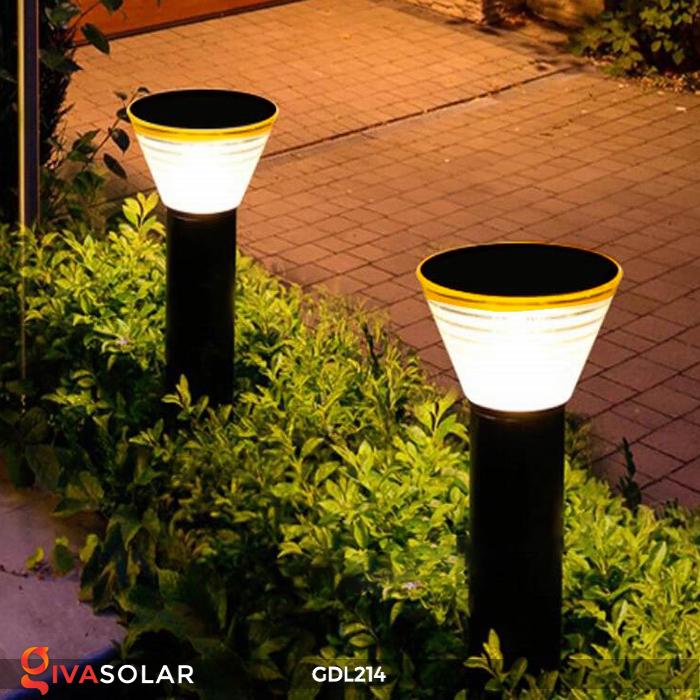 Đèn trụ sân vườn năng lượng mặt trời GDL214 3