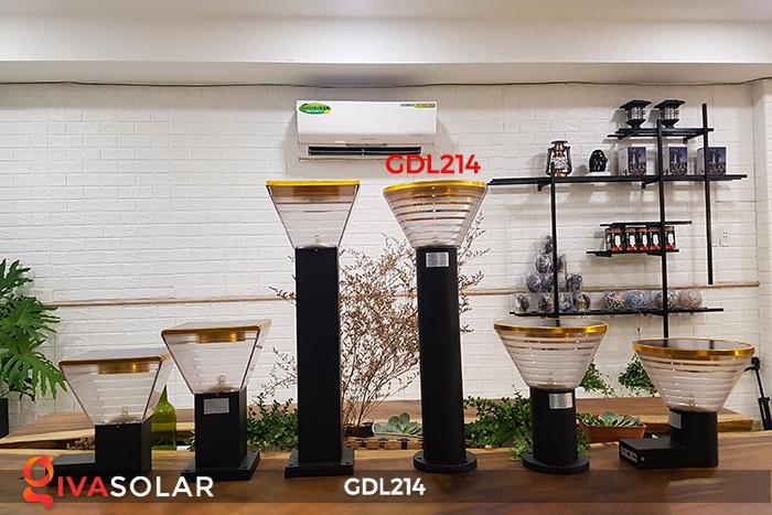 Đèn trụ sân vườn năng lượng mặt trời GDL214 4