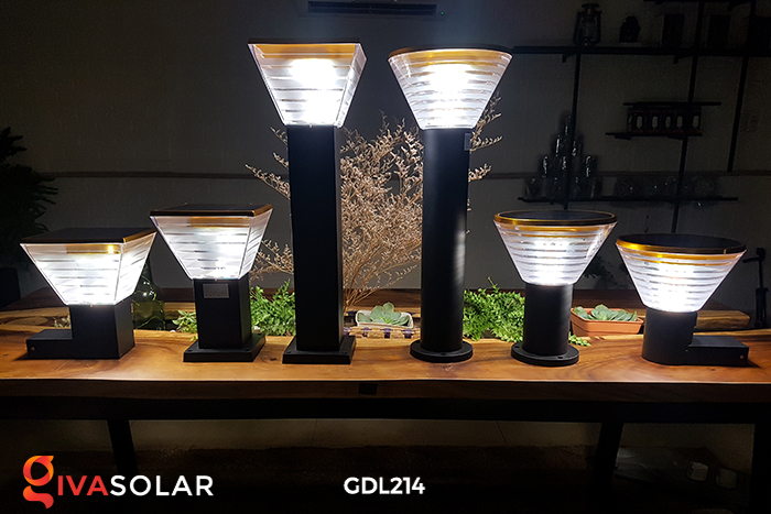 Đèn trụ sân vườn năng lượng mặt trời GDL214 7
