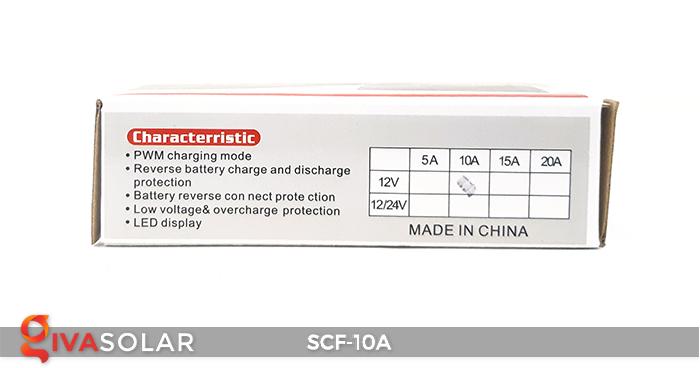 Điều khiển sạc năng lượng mặt trời SCF-10A 9
