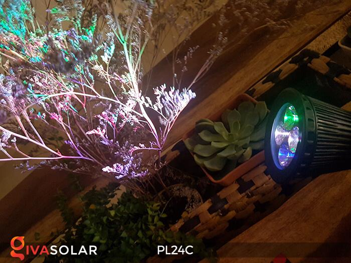 Đèn chiếu tiểu cảnh năng lượng mặt trời PL24C đổi màu 11