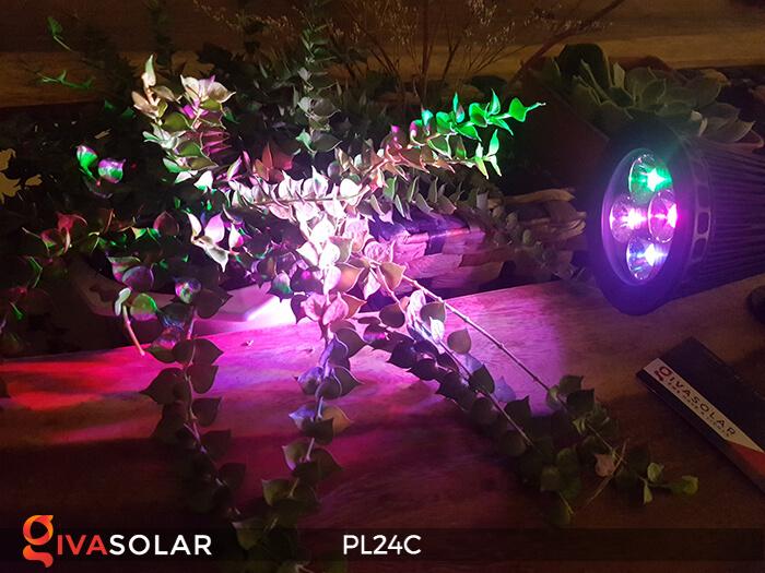 Đèn chiếu tiểu cảnh năng lượng mặt trời PL24C đổi màu 12