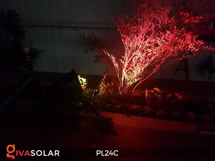 Đèn chiếu tiểu cảnh năng lượng mặt trời PL24C đổi màu 13