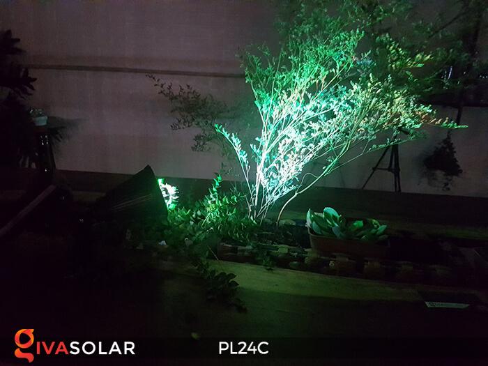 Đèn chiếu tiểu cảnh năng lượng mặt trời PL24C đổi màu 15