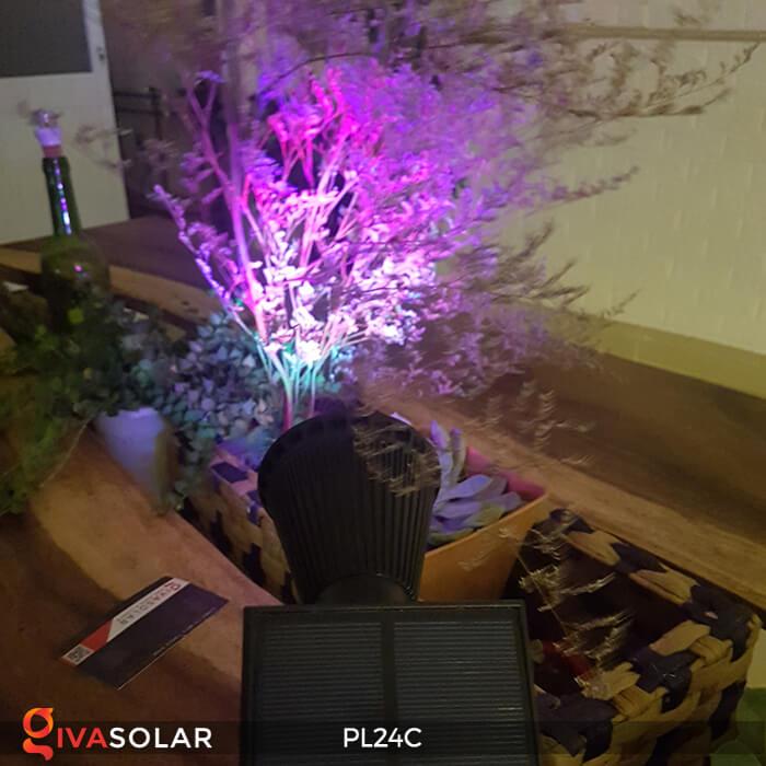 Đèn chiếu tiểu cảnh năng lượng mặt trời PL24C đổi màu 18