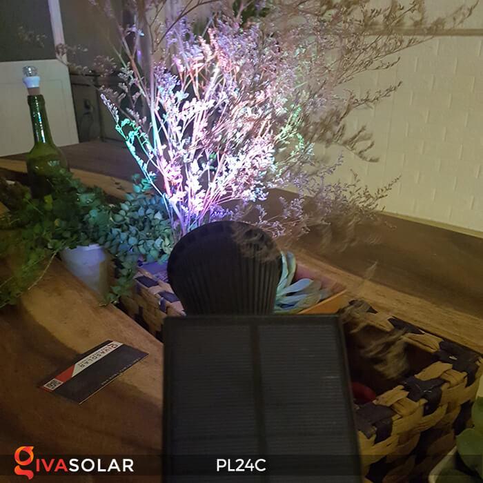 Đèn chiếu tiểu cảnh năng lượng mặt trời PL24C đổi màu 19