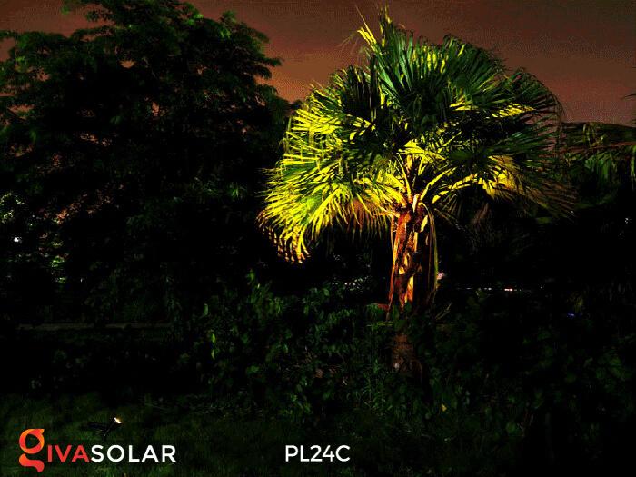 Đèn chiếu tiểu cảnh năng lượng mặt trời PL24C đổi màu 2