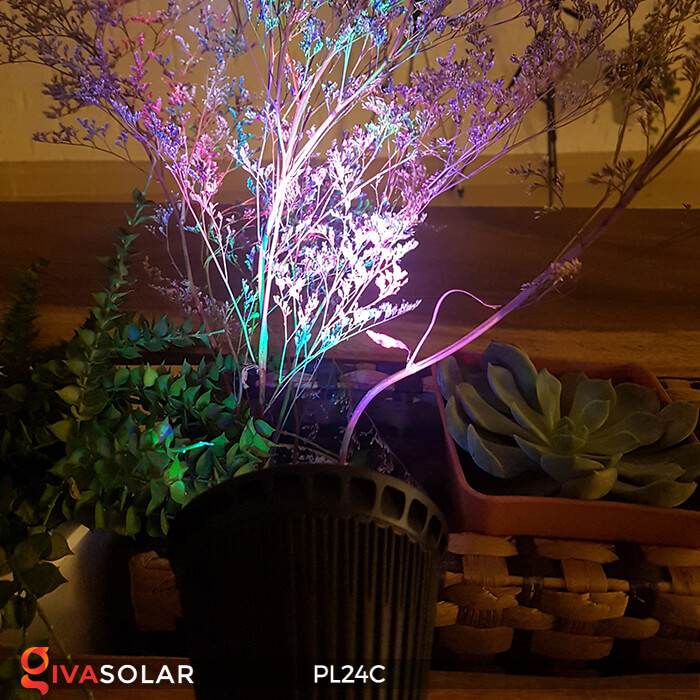 Đèn chiếu tiểu cảnh năng lượng mặt trời PL24C đổi màu 20