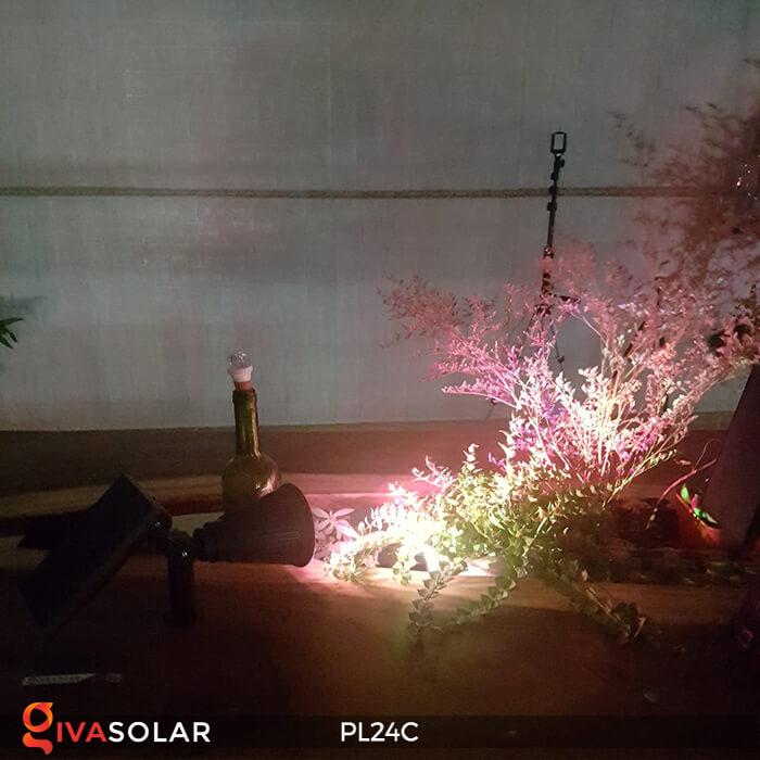 Đèn chiếu tiểu cảnh năng lượng mặt trời PL24C đổi màu 21