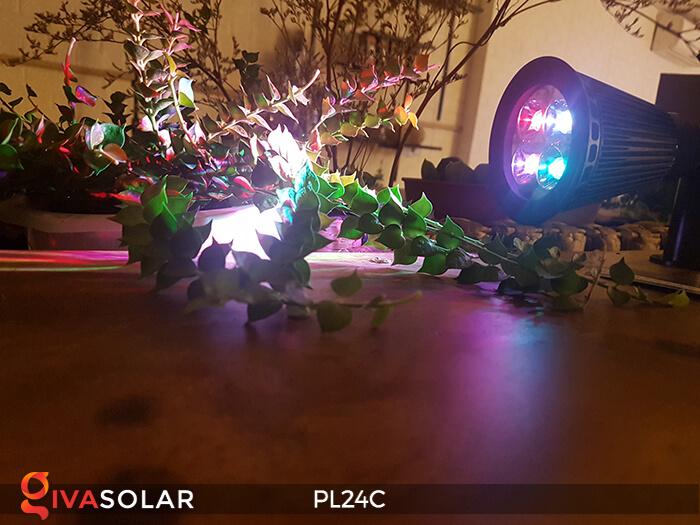 Đèn chiếu tiểu cảnh năng lượng mặt trời PL24C đổi màu 23