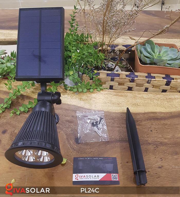 Đèn chiếu tiểu cảnh năng lượng mặt trời PL24C đổi màu 24
