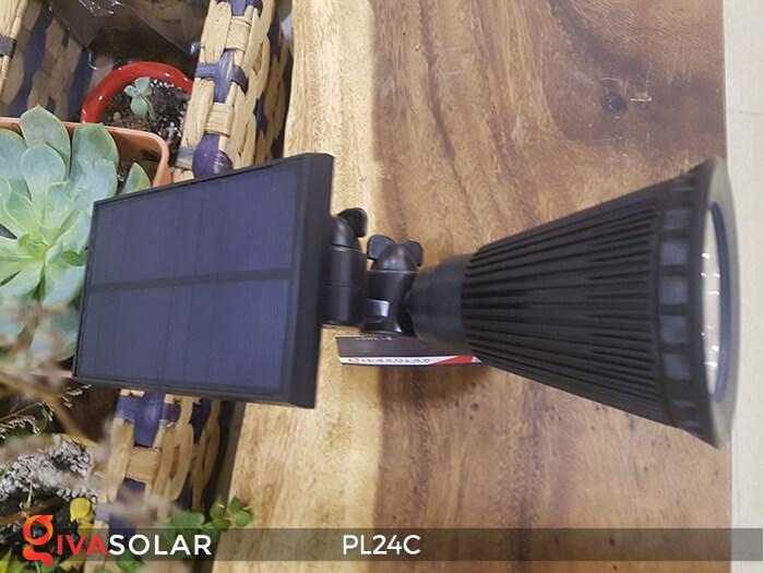 Đèn chiếu tiểu cảnh năng lượng mặt trời PL24C đổi màu 26