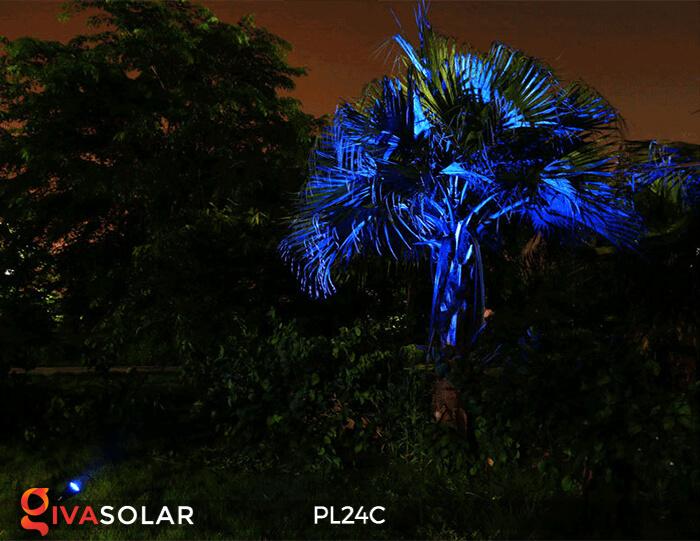 Đèn chiếu tiểu cảnh năng lượng mặt trời PL24C đổi màu 3