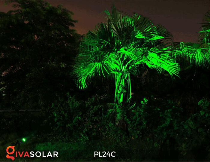 Đèn chiếu tiểu cảnh năng lượng mặt trời PL24C đổi màu 4