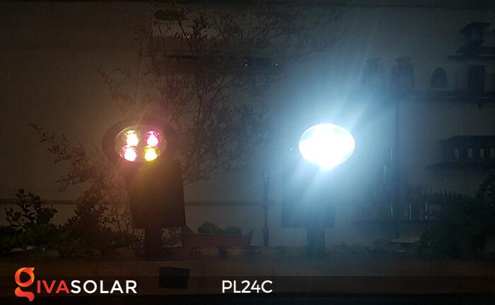 Đèn chiếu tiểu cảnh năng lượng mặt trời PL24C đổi màu 5