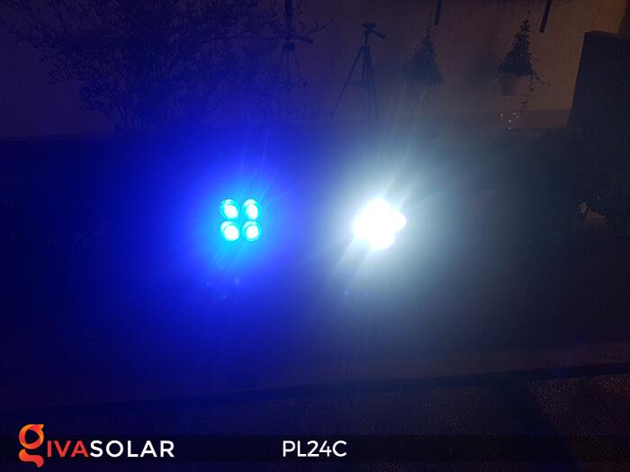 Đèn chiếu tiểu cảnh năng lượng mặt trời PL24C đổi màu 6