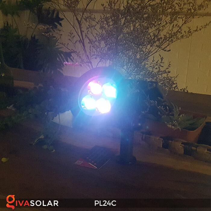 Đèn chiếu tiểu cảnh năng lượng mặt trời PL24C đổi màu 7