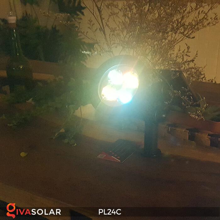 Đèn chiếu tiểu cảnh năng lượng mặt trời PL24C đổi màu 8