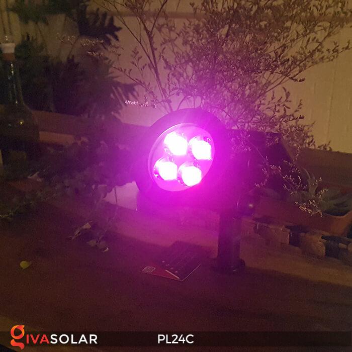 Đèn chiếu tiểu cảnh năng lượng mặt trời PL24C đổi màu 9