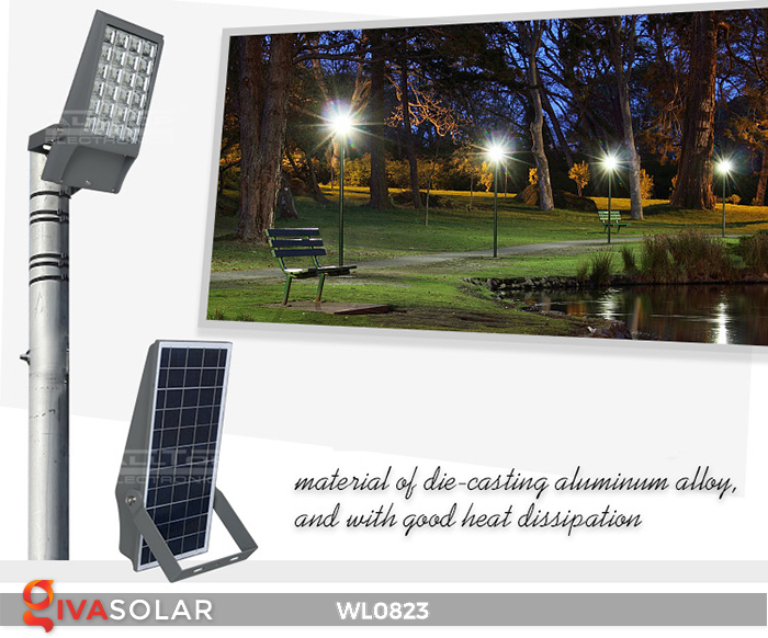 Đèn pha gắn tường năng lượng mặt trời WL0823 1