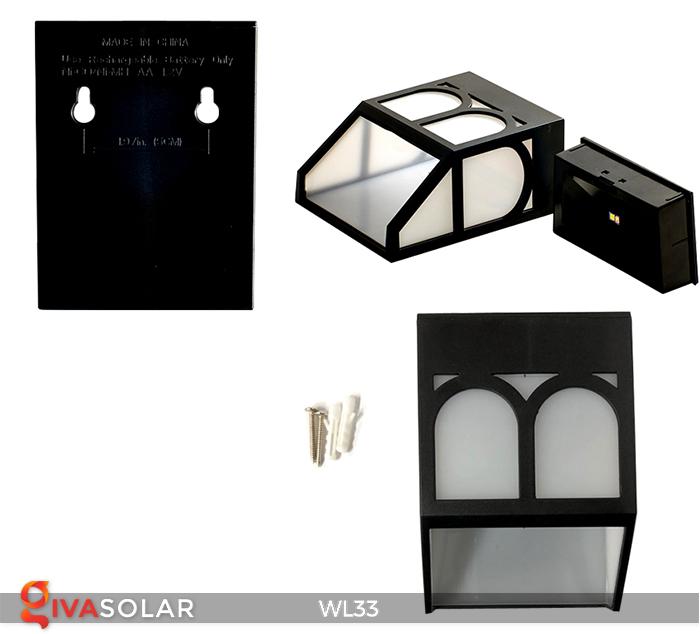 Đèn ốp tường chạy năng lượng mặt trời WL33 1