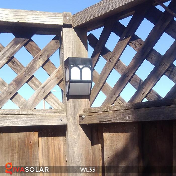 Đèn ốp tường chạy năng lượng mặt trời WL33 13