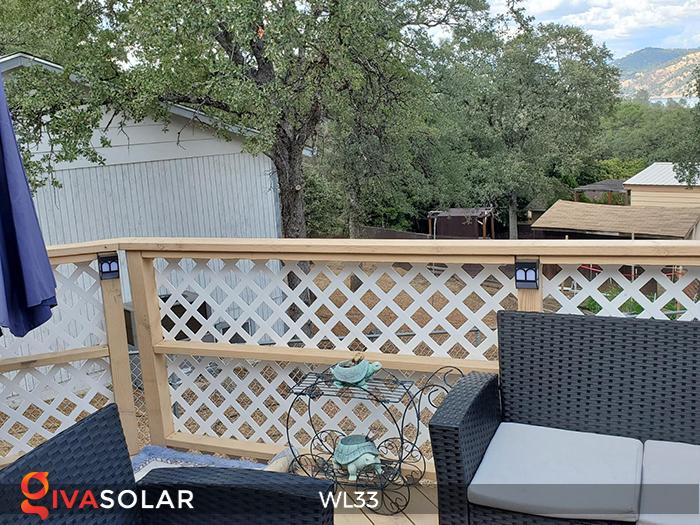 Đèn ốp tường chạy năng lượng mặt trời WL33 16