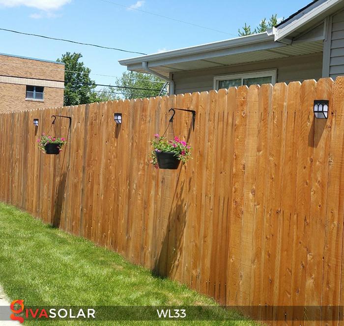 Đèn ốp tường chạy năng lượng mặt trời WL33 17