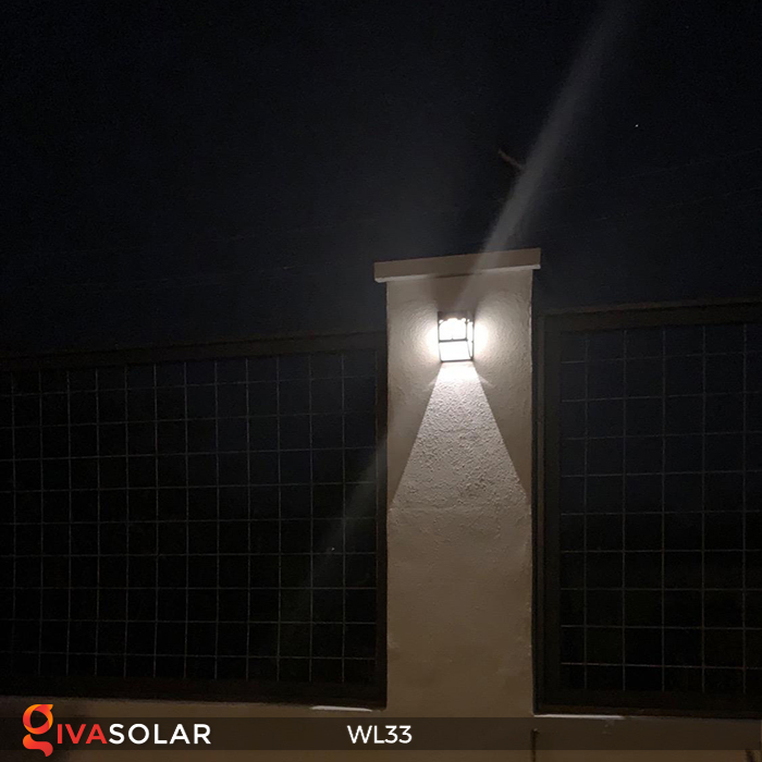 Đèn ốp tường chạy năng lượng mặt trời WL33 19