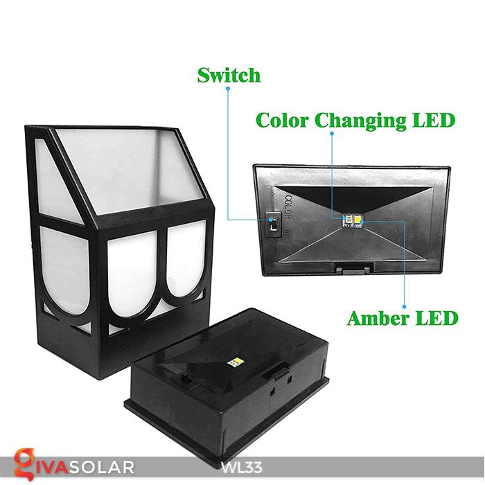 Đèn ốp tường chạy năng lượng mặt trời WL33 2