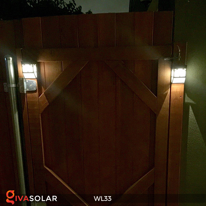 Đèn ốp tường chạy năng lượng mặt trời WL33 20