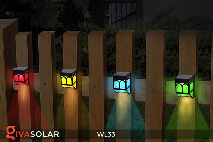 Đèn ốp tường chạy năng lượng mặt trời WL33 22