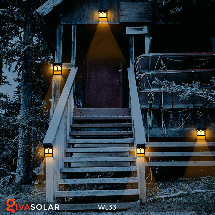 Đèn ốp tường chạy năng lượng mặt trời WL33 24